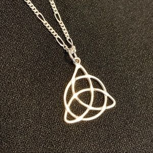 Triquetra sterling silver handmade pendant
